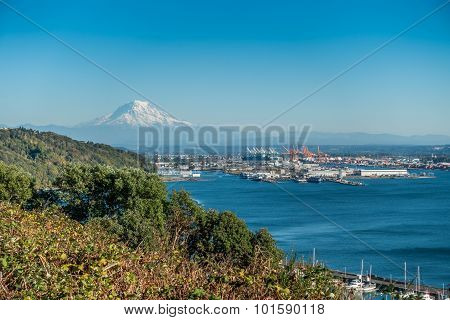 Mount Rainier And Port 3