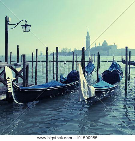 Gondolas, Saint Mark Square,venezia, Italy