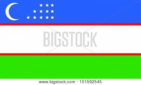 Uzbekistan Flag For Independence Day And Infographic Vector Illustration.