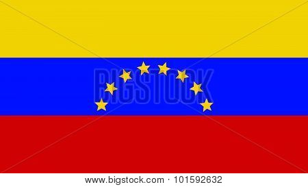 Venezuela Flag For Independence Day And Infographic Vector Illustration.