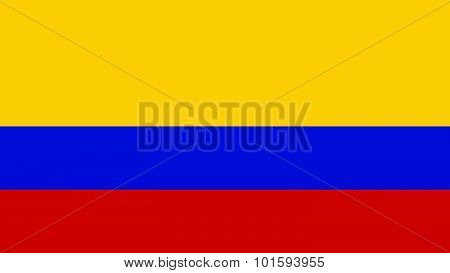 Colombia Flag For Independence Day And Infographic Vector Illustration.