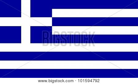 Greece Flag For Independence Day And Infographic Vector Illustration.