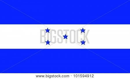 Honduras Flag For Independence Day And Infographic Vector Illustration.
