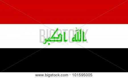 Iraq Flag For Independence Day And Infographic Vector Illustration.