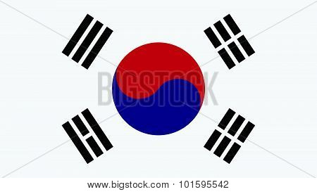 Korea South Flag For Independence Day And Infographic Vector Illustration.