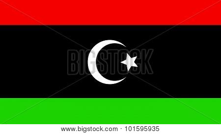 Libya Flag For Independence Day And Infographic Vector Illustration.