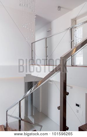 Stairs With Steel Railing