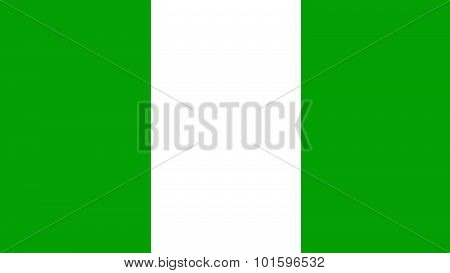 Nigeria Flag For Independence Day And Infographic Vector Illustration.