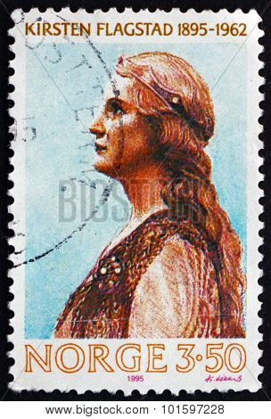 Postage Stamp Norway 1995 Kirsten Flagstad, Opera Singer