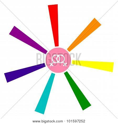 Abstract image   flag of the LGBT community, colors  rainbow