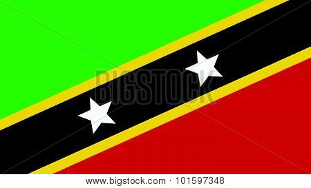 St Kitts & Nevis  Flag For Independence Day And Infographic Vector Illustration.