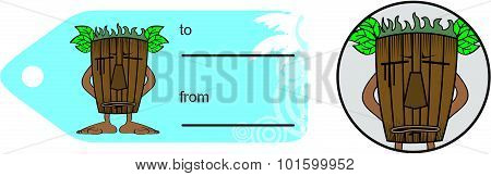 tiki funny cartoon giftcard