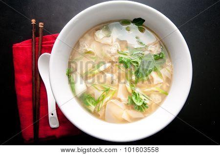 Wonton Soup With Ramen Noodles