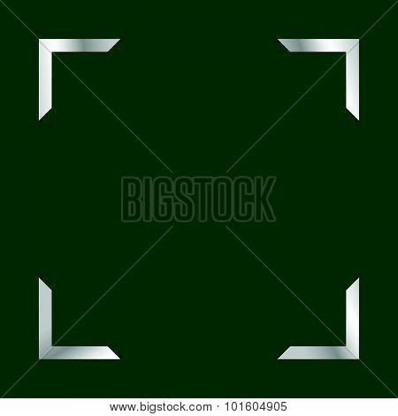 Photo Frame Green Vector