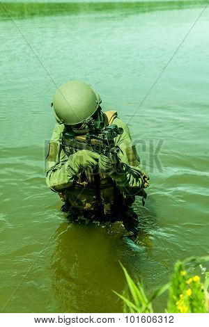 special forces in the water
