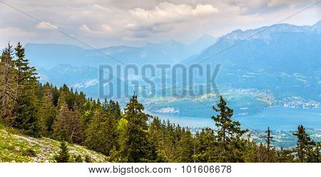View Of Lake Annecy From Semnoz - French Alps