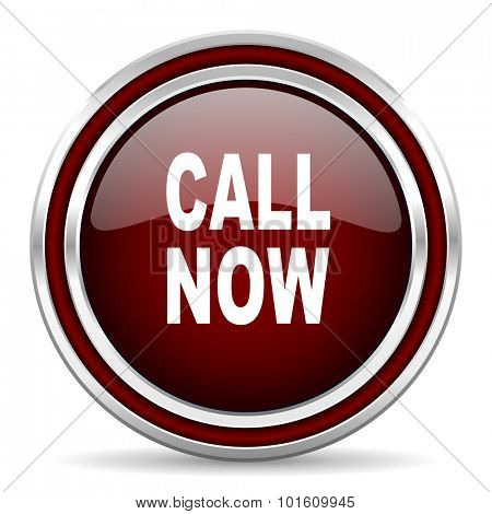 call now red glossy web icon