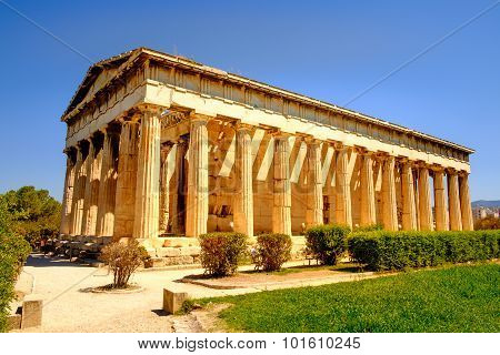 Scenic View Of Temple Of Hephaestus In Ancient Agora, Athens