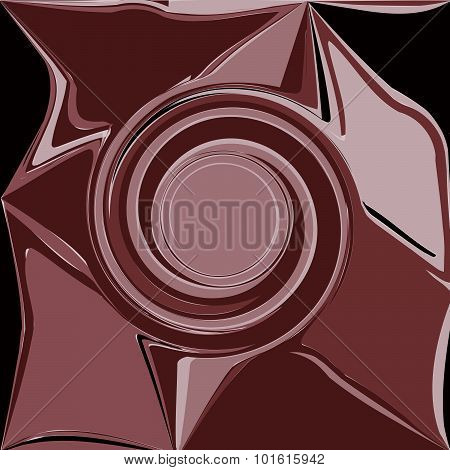 Brown Abstract Wave, Embossed Shadow Eddy, Design Element Background Vector