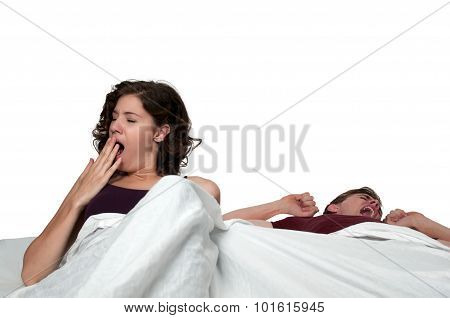 Married Couple In Bed