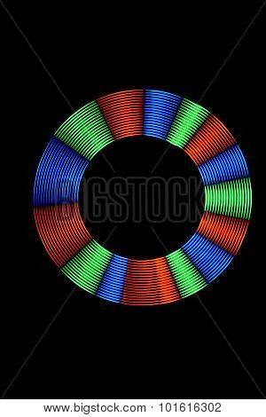 Light Painting Multicolor Light Ring