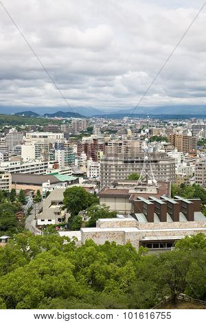 Kumamoto city in Japan