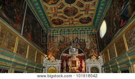 Interior Of Our Lady Of The Rocks Church, Perast, Montenegro.