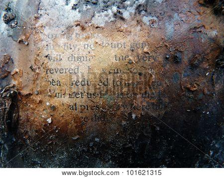 newspaper text burnt concept ash torn destruction