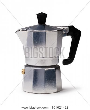 Coffee maker isolated on a white background