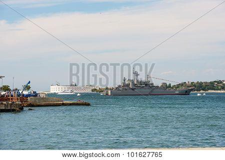 Sevastopol Bay Towards Entrance On July 26, 2013, Crimea.