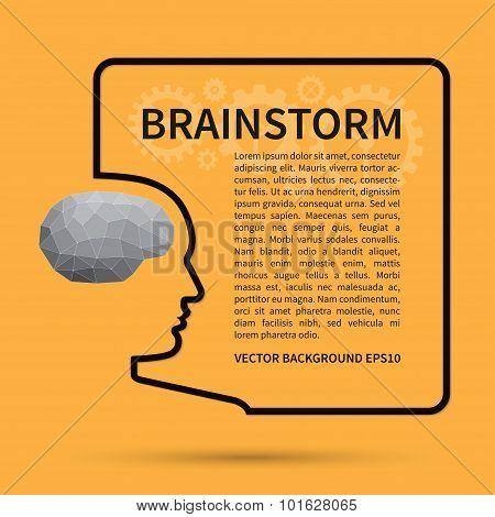 Brainstorm, creative thinking background concept