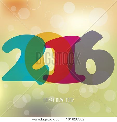 2016 Happy New Year Background For Your Greetings Card, Flyers, Invitation, Posters, Brochure
