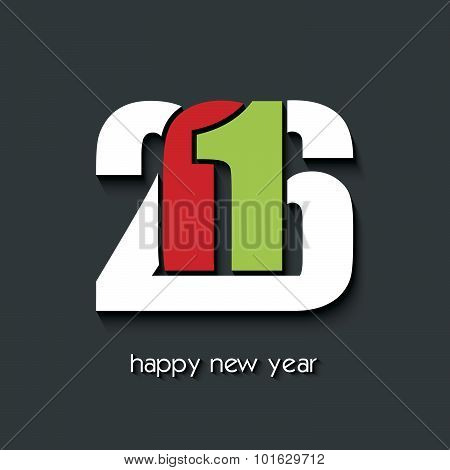 Happy New Year 2016 Creative Background For Your Greetings Card, Flyers, Invitation, Posters, Brochu
