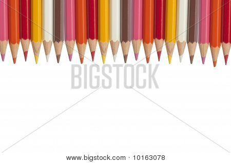 Color Pencil As White Isolate Background