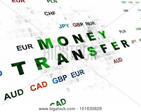 Currency concept: Money Transfer on Digital background