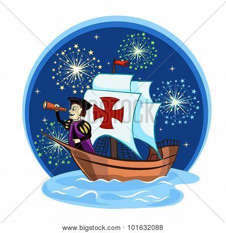 Columbus On The Ship  2