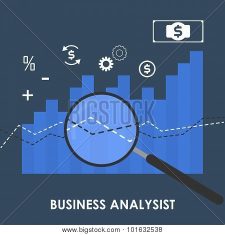 Vector Abstract Illustration Of Business Analysis Concept