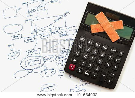 Businessman Writing Business Plan Growth Concept.