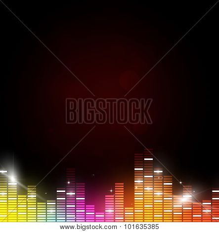 Multicolor Music Background