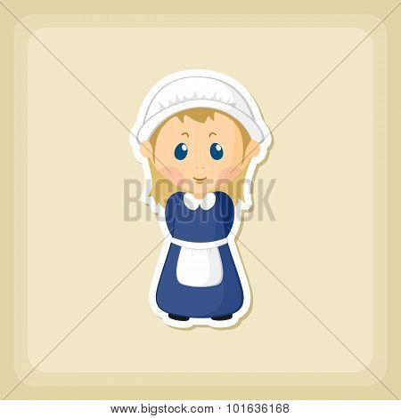 American Pilgrim Children Icon, Thanksgiving Day
