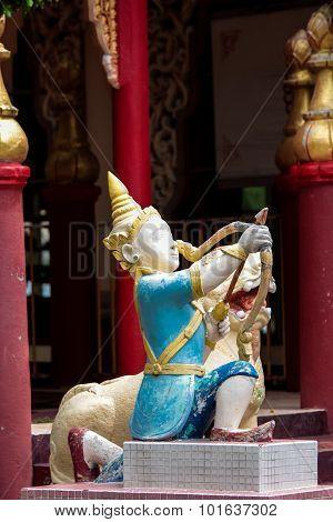 Dhamikarama Burmese Temple In Penang, Malaysia