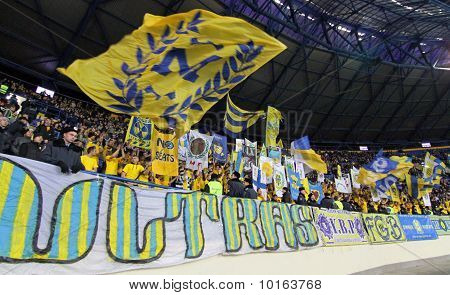 Metalist Fans Support Their Team