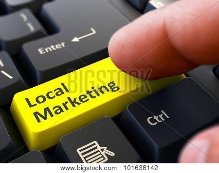 Local Marketing - Clicking Yellow Keyboard Button.