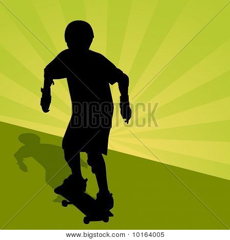 Child Riding Skateboard