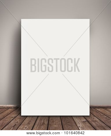 Blank Paper Poster Mock Up Leaning Against Wall