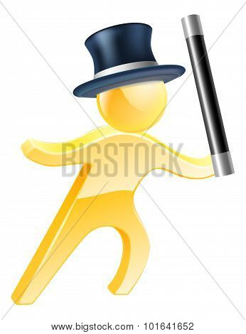 Wand And Top Hat Magician