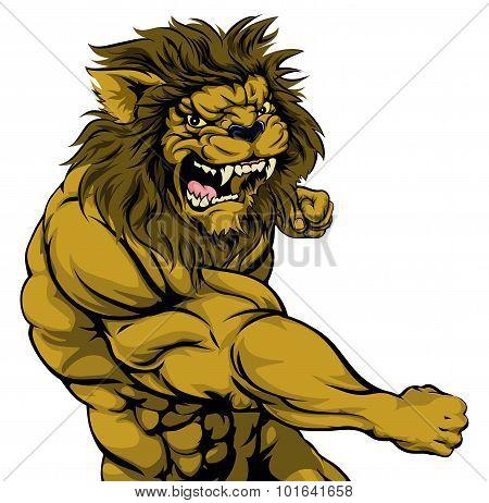 Lion Mascot Fighting