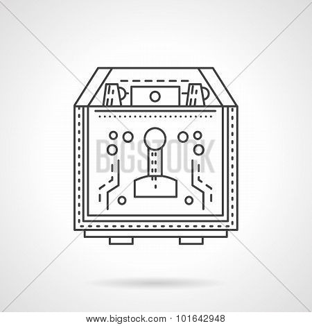 Coffee equipment flat line vector icon
