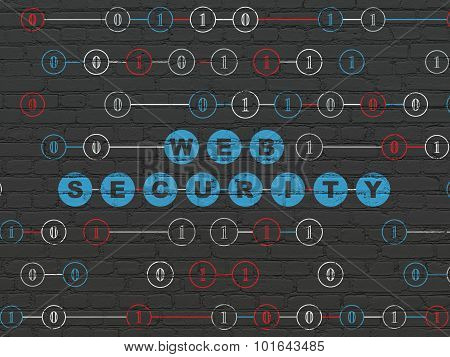 Web design concept: Web Security on wall background