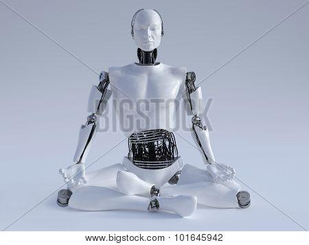 Robot Man Meditating Nr 1.